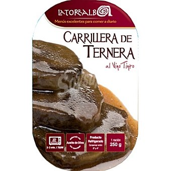 La Torralba Carrillera de ternera al vino tinto Envase 250 g