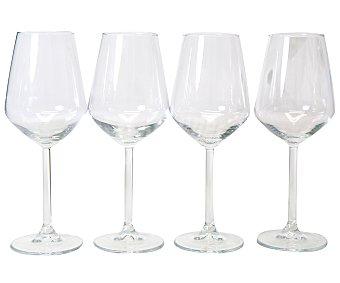 Auchan Pack de 4 copas para vino blanco modelo Allegra, con capacidad de 34,5 centilitros y fabricadas en vidrio 1 Unidad