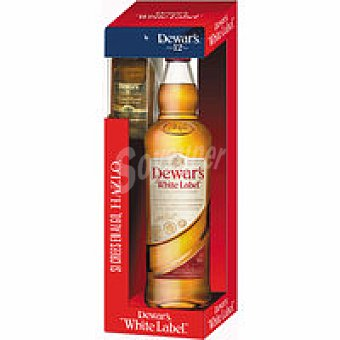 White Label Dewar`s Botella 70 cl + Miniatura