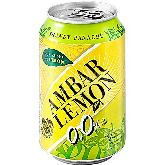 Ambar Cerveza Lemon sin alcohol con limón Lata de 33 cl