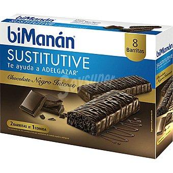 Bimanan Sustitutive barritas sabor chocolate intenso caja 8 unidades