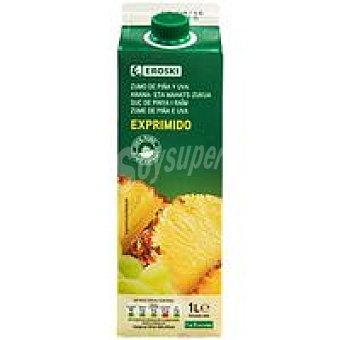 Eroski Zumo de piña Botella 1 litro