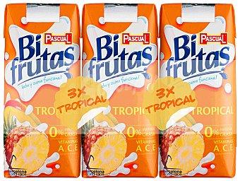 Bifrutas Pascual Zumo y leche sabor tropical Pack 3x330 ml