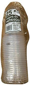 Bosque Verde Vaso desechable plastico agua 230 cc transparente Paquete 25 u