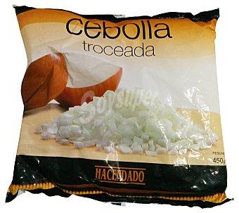 Hacendado Cebolla troceada congelada Paquete de 450 g