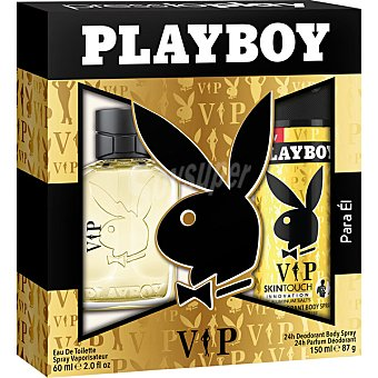 PLAY BOY VIP eau de toilette masculina + desodorante spray 150 ml spray 60 ml