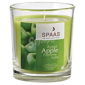 SPAAS Vela Perfumada en vaso de cristal transparente aroma Manzana