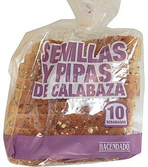 Hacendado PAN MOLDE CON SEMILLAS Y PIPAS DE CALABAZA PAQUETE 600 g