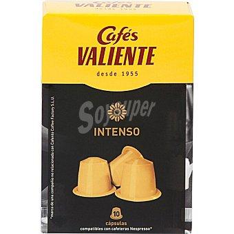 Cafés Valiente café natural intenso ápsulas compatible con cafetera Nespresso estuche 50 g 10 c