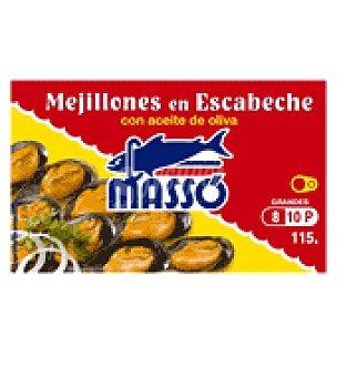 Masso Mejillones en escabeche masso 8/10 69 g