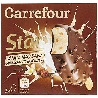 Carrefour Big Choc vainilla macadamia 3 ud