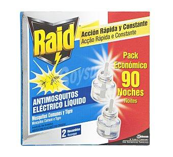 Raid Recambio Antimosquitos Aparato Eléctrico Líquido 2 Unidades