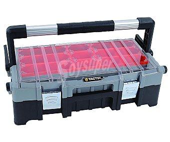 TACTIX Caja de herramientas profesional de 57 centímetros, con asa antideslizante y compartimento superior fraccionado 1 unidad