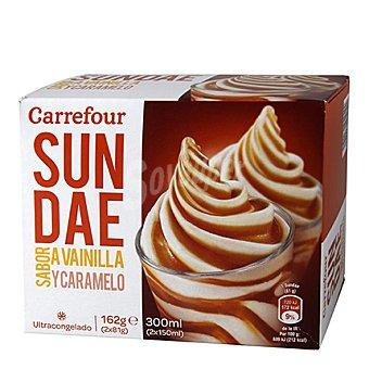 Carrefour Helado Sundae de Vainilla y Caramelo 2x81 g