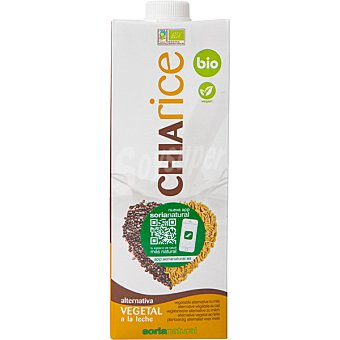 Soria Natural Bebida de arroz con chía alternativa vegetal a la leche bio Envase de 1 l
