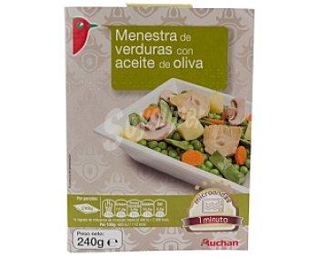 Auchan Menestra de verduras con aceite de oliva 240 Gramos