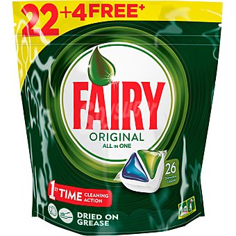 Fairy Lavavajillas máquina Bolsa 22+6 dosis