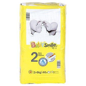 Baby Smile Pañales recién nacido paquete 46 ud 3-6 kgs