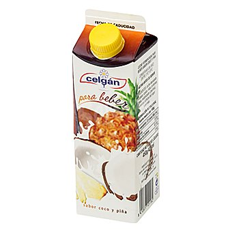 Celgan Yogur bebido de coco y piña 450 ml