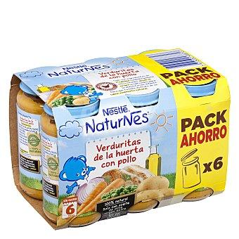 Nestlé Tarrito de puré de verduras y pollo Pack 6x250 g