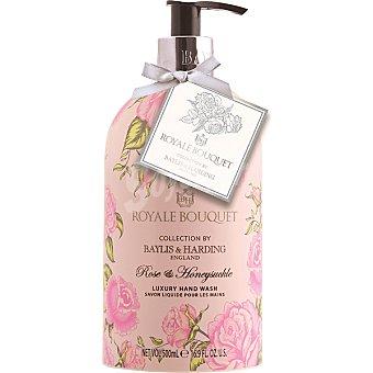 BAYLIS & HARDING Royale Bouquet jabón líquido de manos Rosa y Madreselva dosificador  500 ml