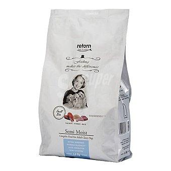 Retorn Small adult pienso semi húmedo para perros adultos pequeños con salmón, pavo y arroz 1,5 kg