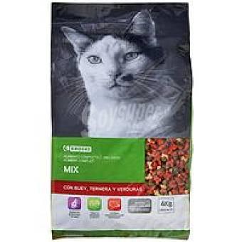 Eroski Mix de buey-ternera-verdura para gato Saco 4 kg