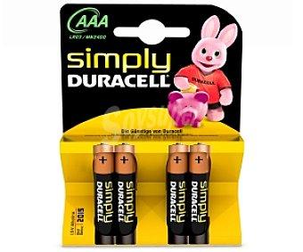 Duracell Pilas alcalinas AAA LR03 4 unidades