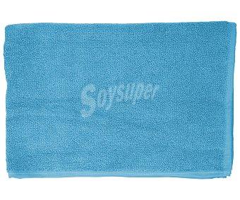 Productos Económicos Alcampo Alfombra de baño color turquesa, densidad de 700 gramos/m², 50x90 centímetros 1 unidad