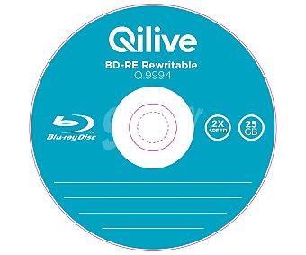 Qilive Blu-Ray regrabable bd-re Slim Case, 25GB, velocidad 2X Q.9994