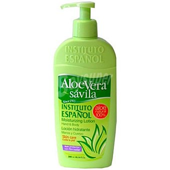 Instituto Español Crema corporal con aloe vera loción hidratante cuerpo y manos dosificador 300 ml