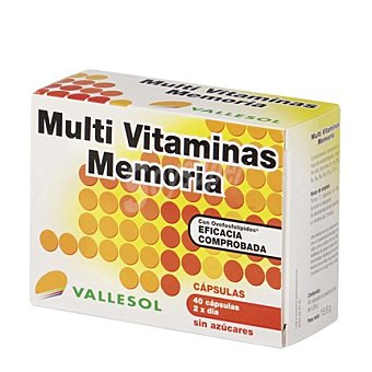 VALLESOL Multi Vitaminas Memoria sin azúcares 40 cápsulas