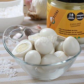 Pitas Huevos de Codorniz Cocidos y Pelados Estuche de 18 ud