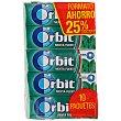 Chicle grageas sabor menta fuerte Pack 10 x 10 unidades (100 grageas) Orbit