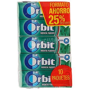 Orbit Chicle grageas sabor menta fuerte Pack 10 x 10 unidades (100 grageas)
