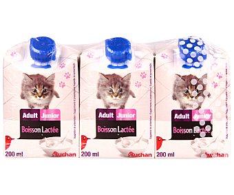 Auchan Leche para gatos Brik de 200 mililitros