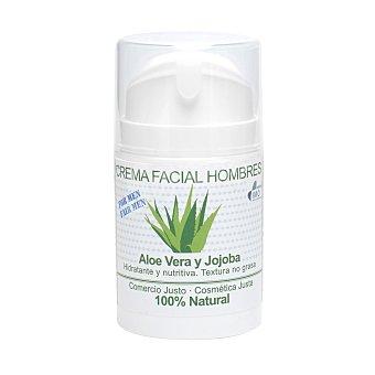 Equimercado Crema facial de Aloe Vera, especial hombre ecológica 50 ml