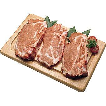 Filetes de aguja fresca de cerdo