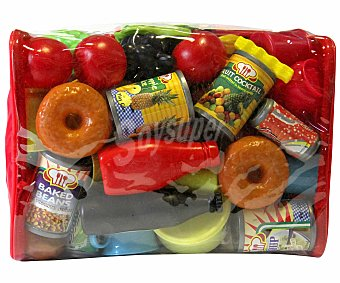 Rik&Rok Auchan Set de 130 piezas de Alimentos, Bebidas y Utensilios hechos en Plástico 1 Unidad