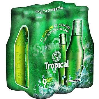 Tropical cerveza rubia nacional  PACK 9 botellas 20 cl