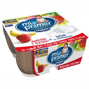 Danone Frutalia de manzana-látano Pack 4x100 g