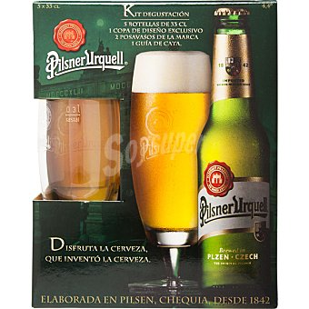 Pilsner Urquell Cerveza rubia checa pack 5 botella 33 cl Pack 5 botella 33 cl