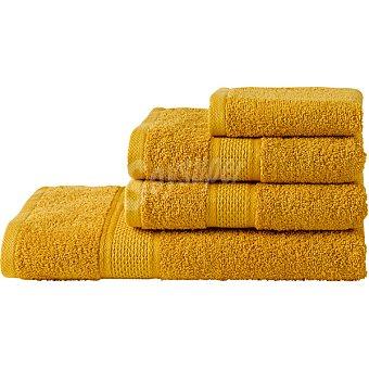 Casactual Juego de 4 toallas mostaza CasActual 4 unidades