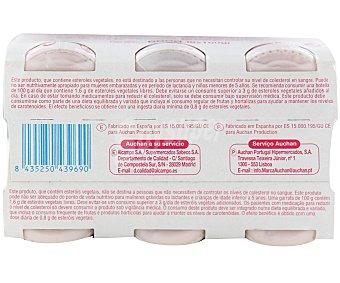 "Auchan Leche fermentada desnatada ""reduce colesterol"" fresa 6 unidades de 100 mililitros"