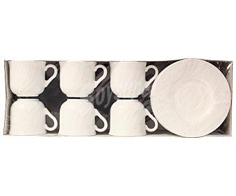 BORMIOLI Lote de 6 tazas de desayuno con platos a juego modelo Ebro, con capacidad de 25 centilitros y fabricadas en vidrio opal 1 Unidad