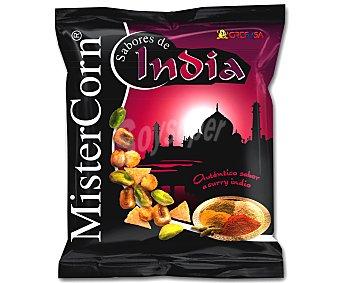 Grefusa Mister Corn Cóctel de frutos secos sabor a curry indio Bolsa 140 g