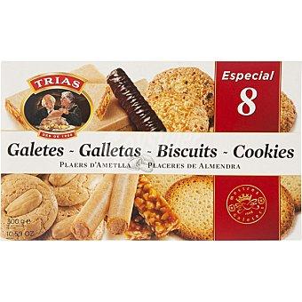 Trias Surtido de galletas especial nº 8 teulas y barquillos Caja 300 g