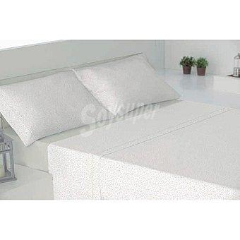 CASACTUAL Granada Juego de cama con dibujo de florecillas en color topo