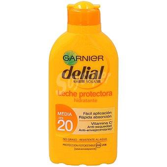 Delial Garnier Leche protectora ultra-hidratante FP-20 resistente al agua Bote 200 ml
