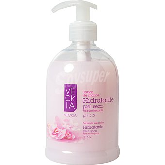 Veckia Jabón líquido de manos hidratante pH 5.5 para piel seca Dosificador 500 ml